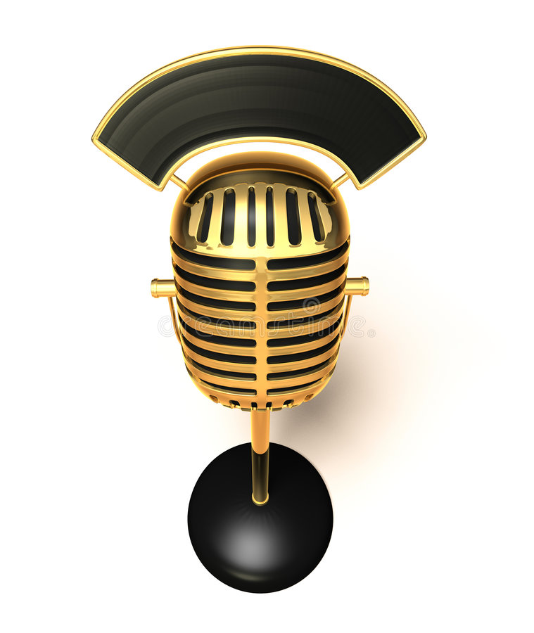 Download Retro mikrofon stock illustrationer. Illustration av tappning - 993275