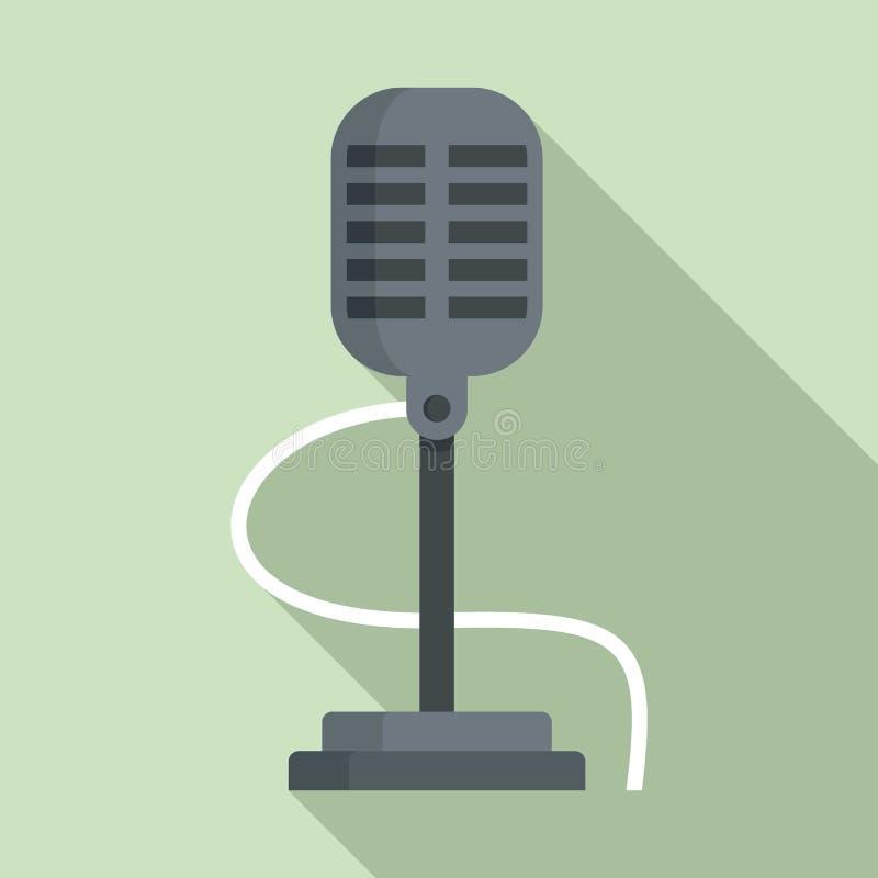 Retro mikrofonsymbol, l?genhetstil stock illustrationer