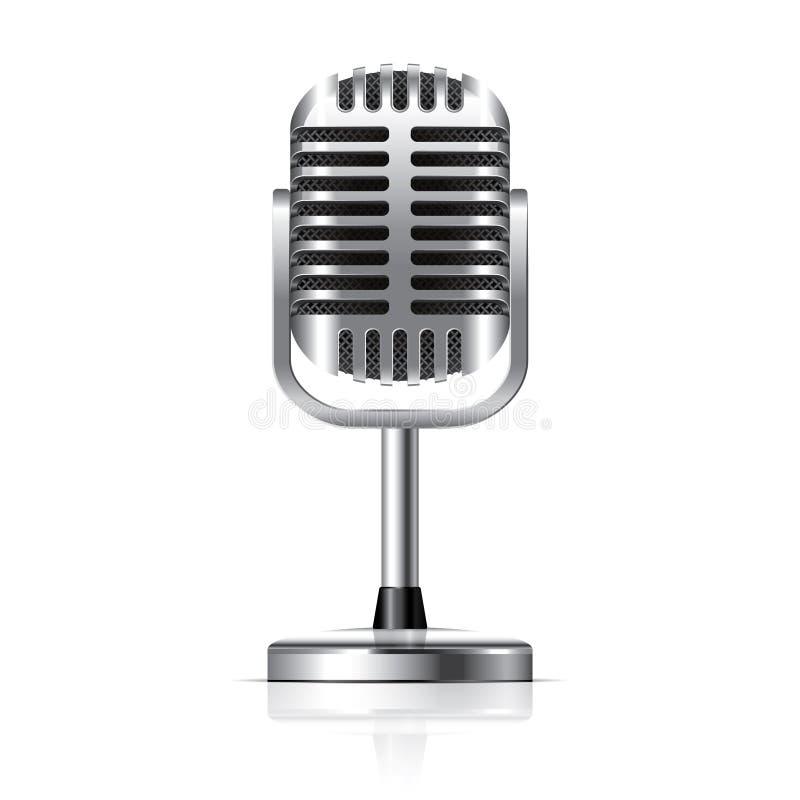 Retro mikrofonu wektoru ilustracja ilustracja wektor