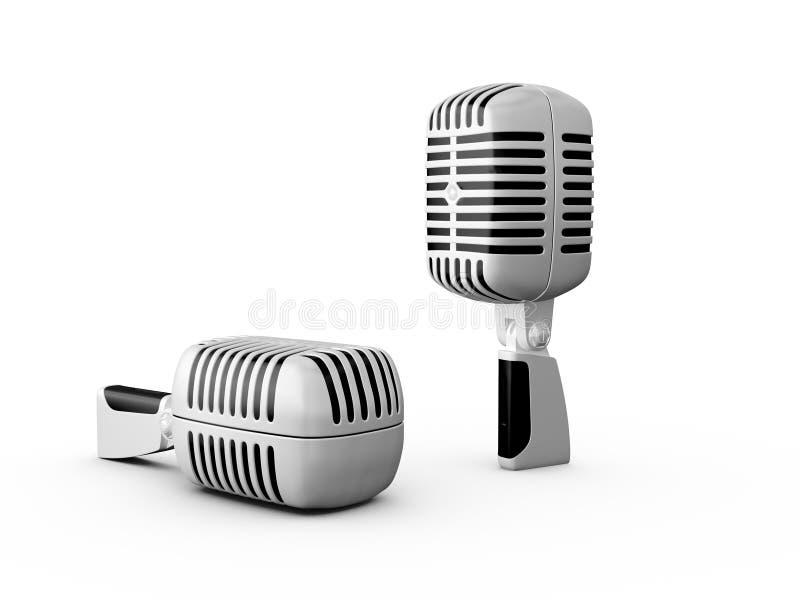 Retro mikrofony ilustracji