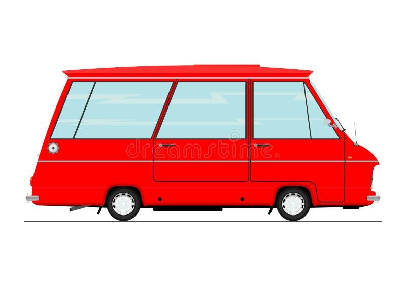 Retro minibus del fumetto royalty illustrazione gratis