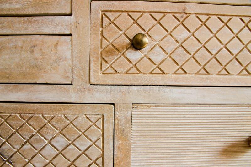 Retro mobilia di legno fotografia stock