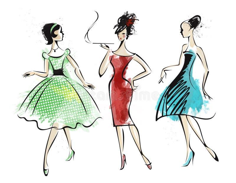 retro mode royaltyfri illustrationer