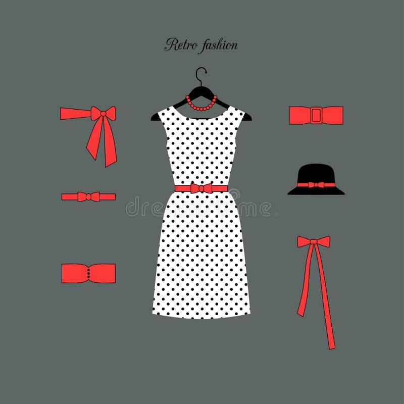 Retro modebakgrund royaltyfri illustrationer
