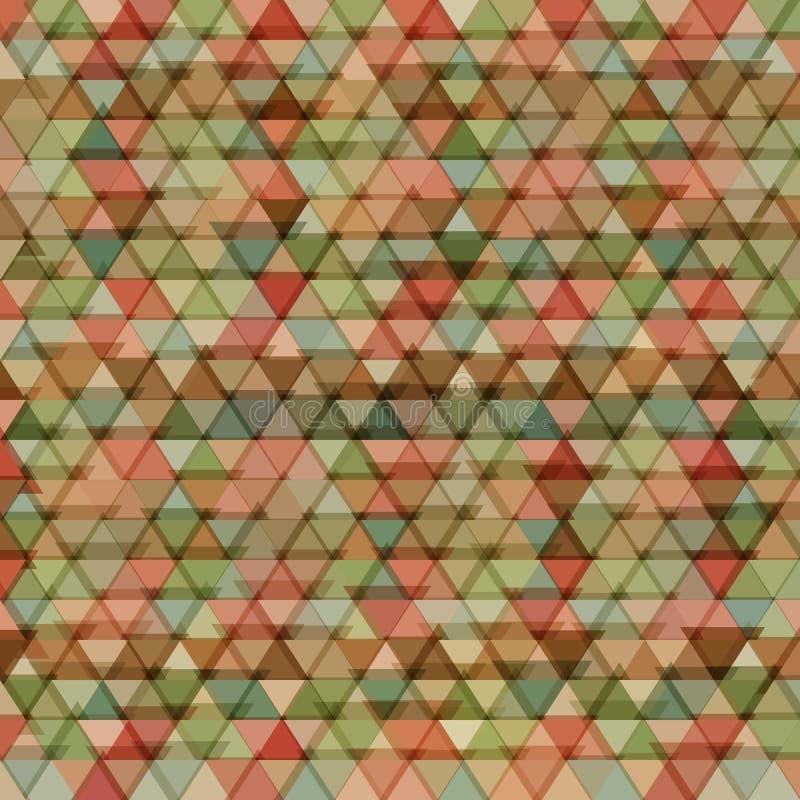 Retro modell av geometriska former Färgrik-mosaik vektor illustrationer