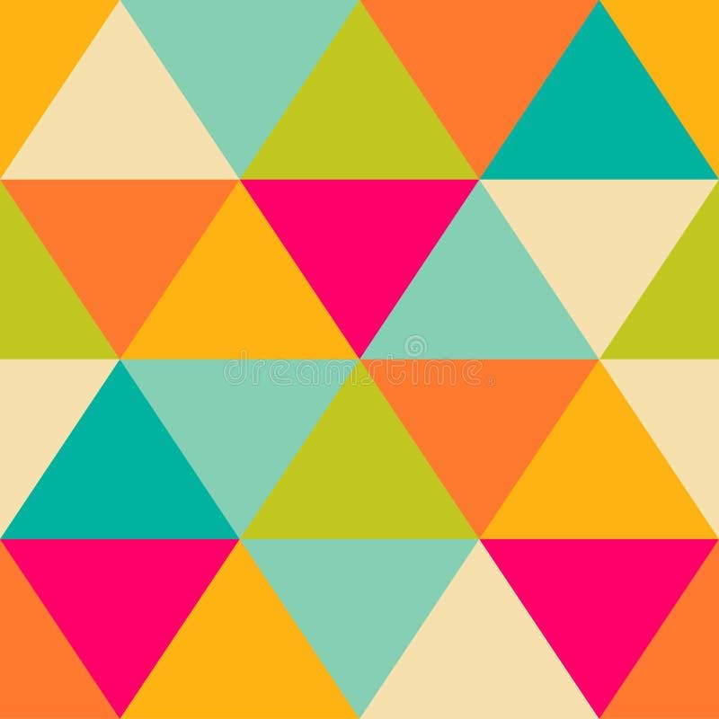 Retro modell av geometriska former färgrik mosaik för baner Geome stock illustrationer