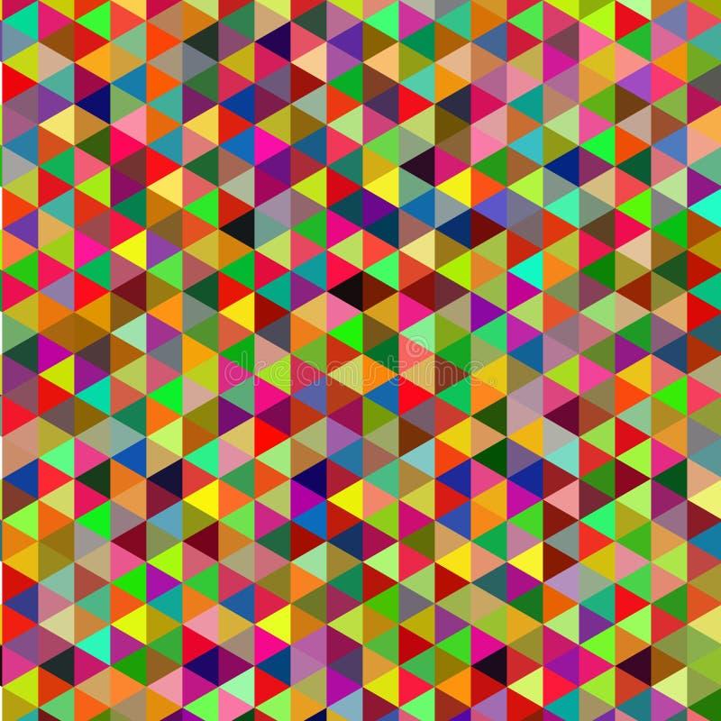 Retro modell av geometriska former Färgrik mosaikbakgrund Retro bakgrund för geometrisk hipster vektor illustrationer