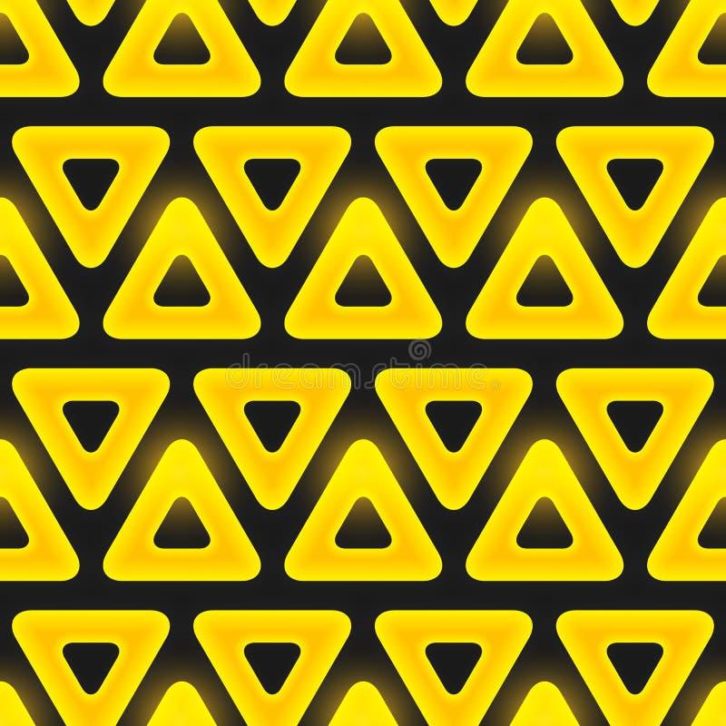 Retro modell av geometriska former. Sömlös vektor stock illustrationer