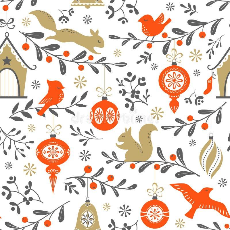 Retro modell för jul royaltyfri illustrationer