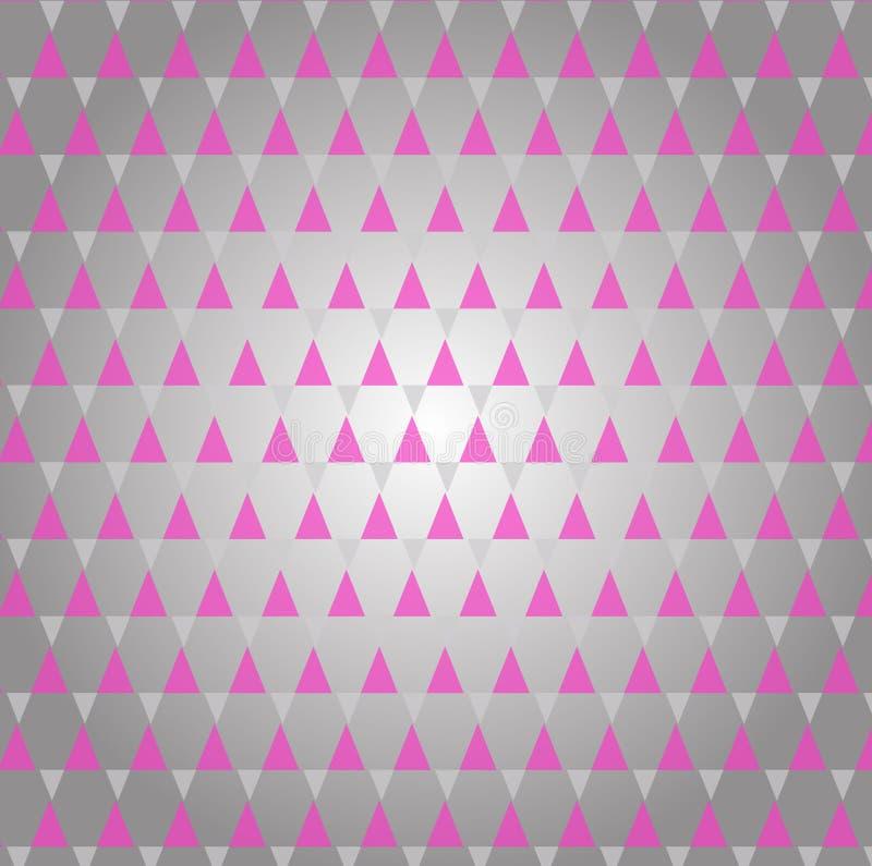 Retro modello astratto delle forme geometriche Contesto variopinto del mosaico di pendenza Fondo triangolare dei pantaloni a vita royalty illustrazione gratis
