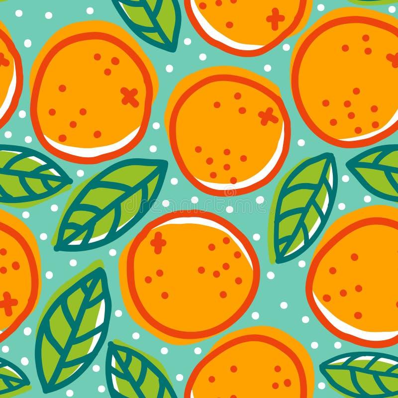 Retro modello con le arance royalty illustrazione gratis