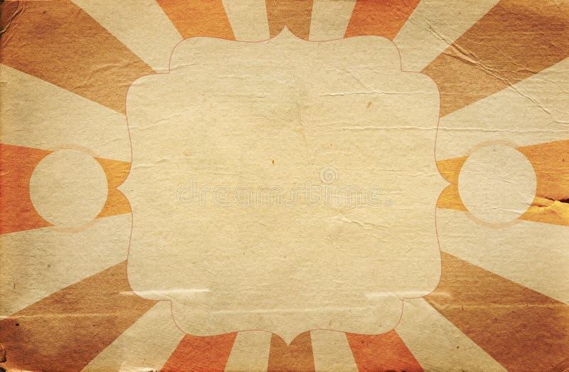 Retro modello del manifesto di stile del circo sul fondo del rombo con il ri illustrazione di stock