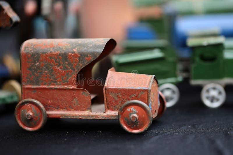 Retro modello dell'automobile fotografia stock