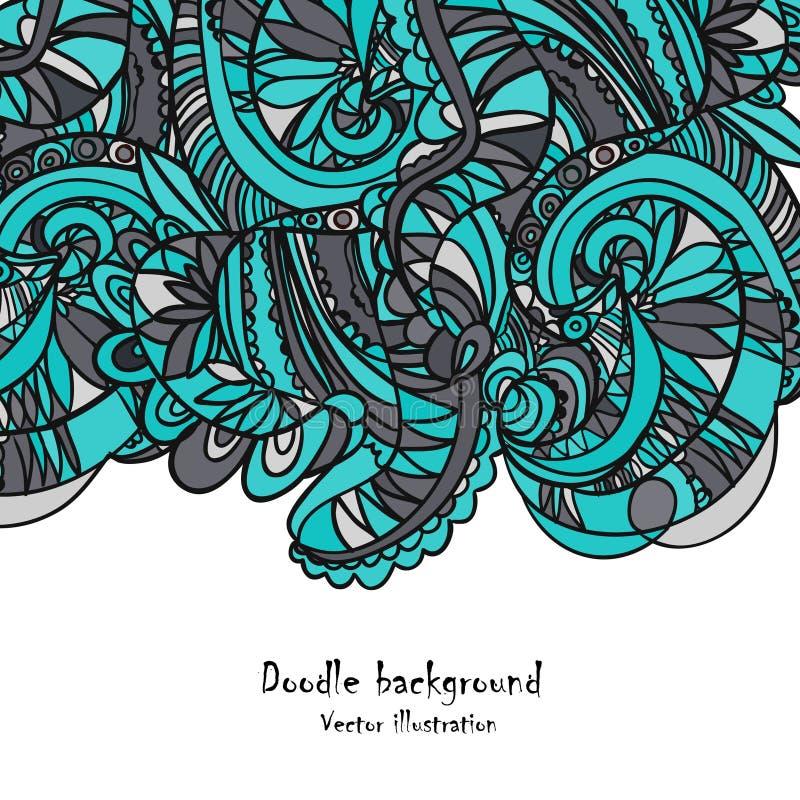 Retro modello di onde disegnato a mano, illustrazione di stock