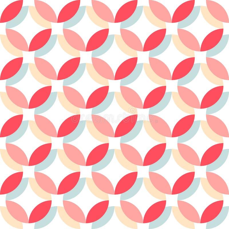 Retro modello senza cuciture astratto sveglio Può essere usato per la carta da parati, i materiali di riempimento della copertura illustrazione di stock