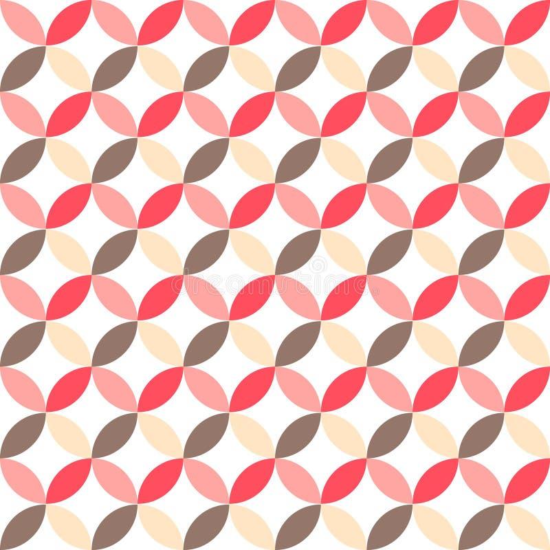 Retro modello senza cuciture astratto sveglio Può essere usato per la carta da parati, i materiali di riempimento della copertura illustrazione vettoriale