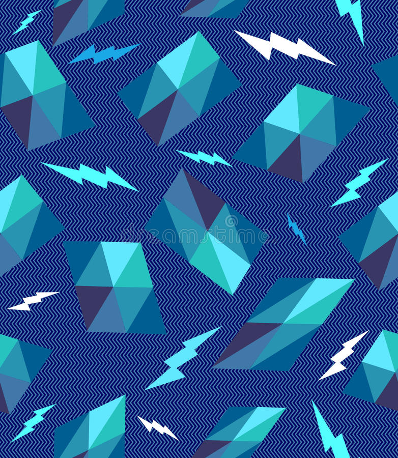 Retro modello senza cuciture geometrico d'avanguardia. royalty illustrazione gratis