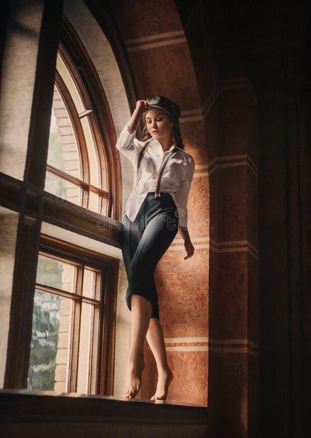 retro mody dziewczyna obrazy stock