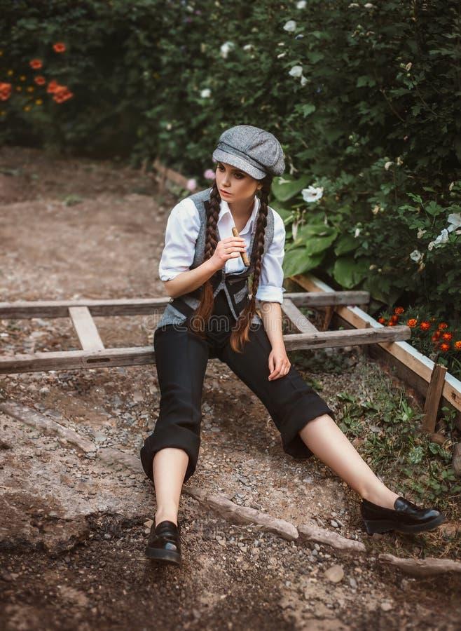 retro mody dziewczyna zdjęcia stock