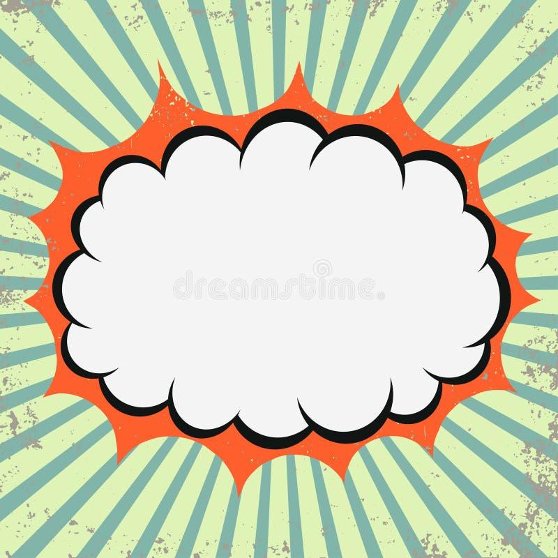 Retro moln för popkonst stock illustrationer