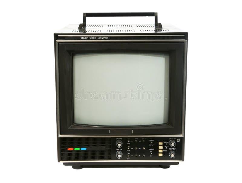 Retro Monitor van de Televisie stock foto