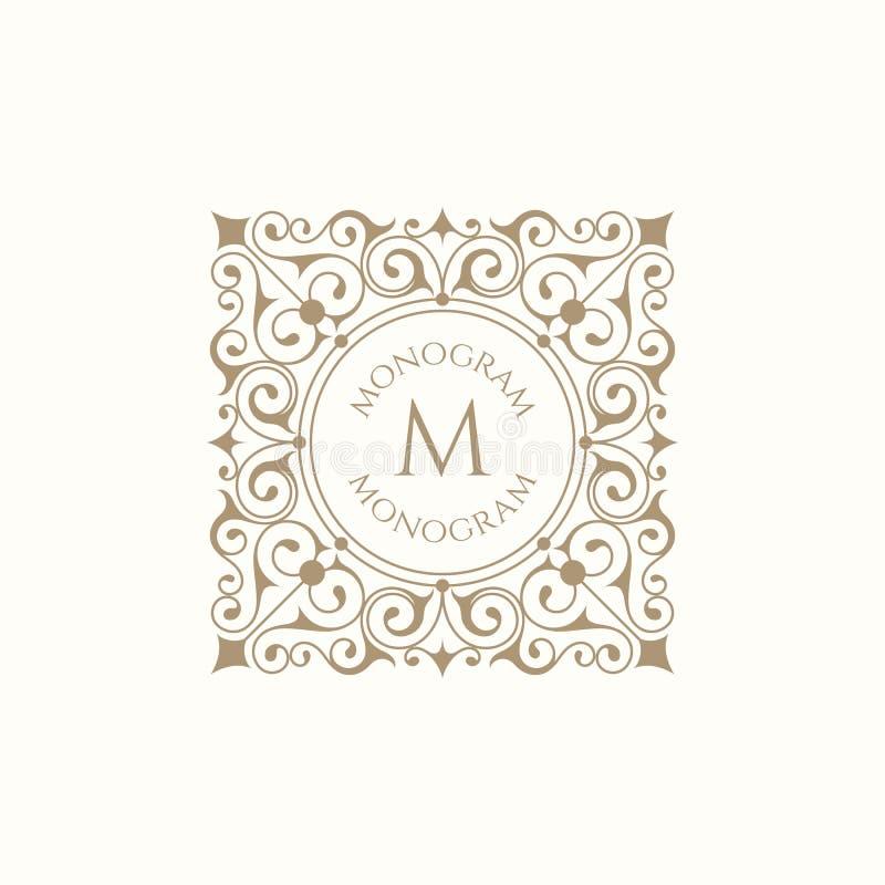 Retro monogram royalty ilustracja