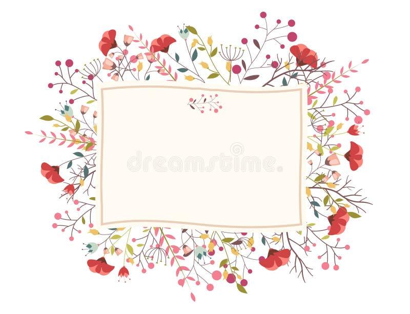 Retro mooie bloem royalty-vrije illustratie