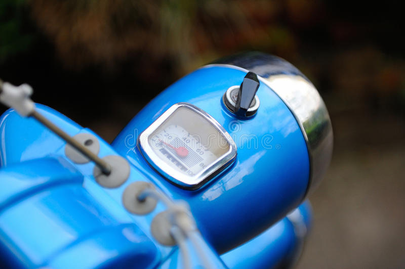 Download Retro Moped Cockpit With Blurred Background Stock Photo - Image: 40145318