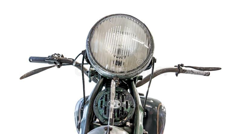 Retro mopedpannlampa och styren royaltyfria foton