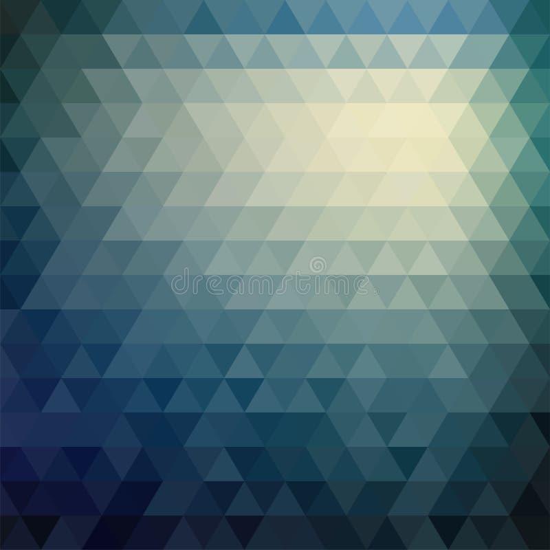 Retro mosaic pattern of geometric triangle shapes royalty free illustration