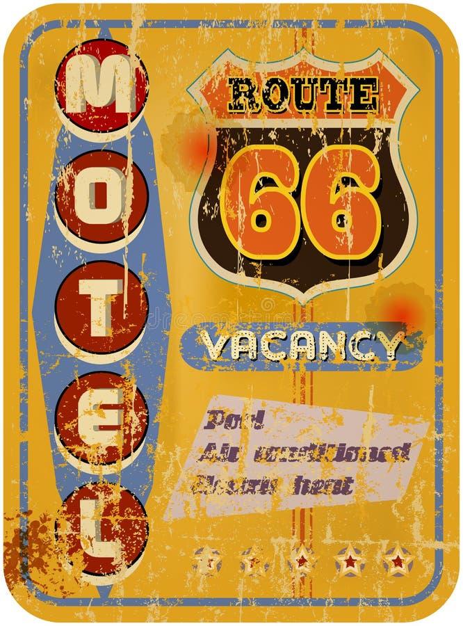 Retro motell för rutt 66 royaltyfri illustrationer