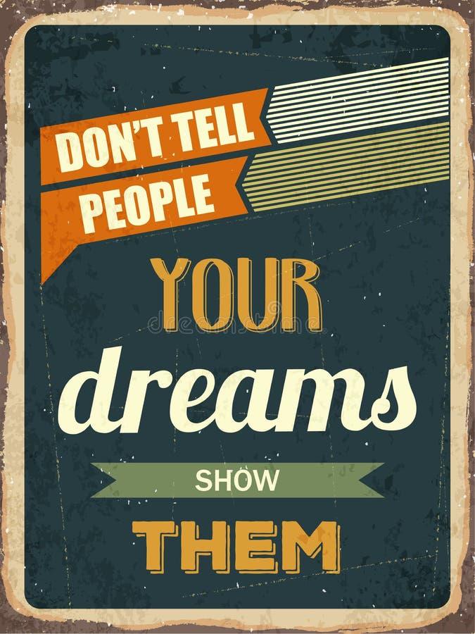 Retro motivational quote. royalty free illustration