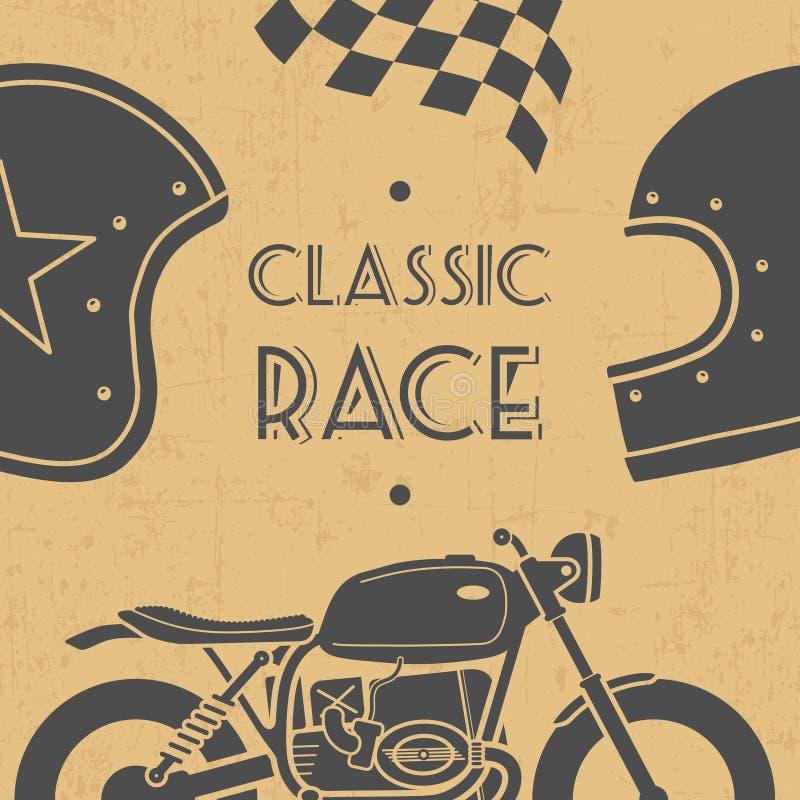 Retro motociclo illustrazione di stock