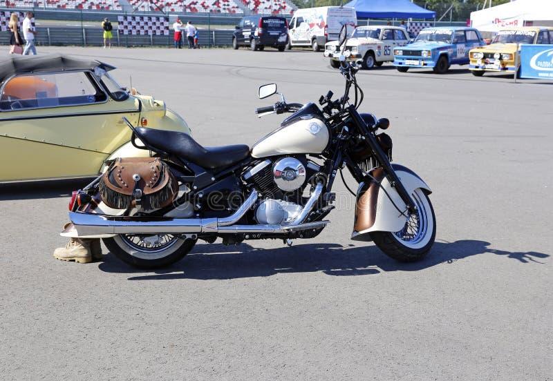 Retro motociclo di modello Kawasaki VN800 1995 del rilascio fotografia stock