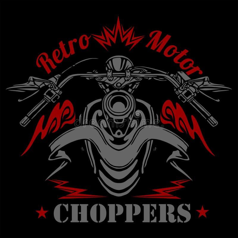 Retro motocykl etykietka, odznaka i projektów elementy, royalty ilustracja