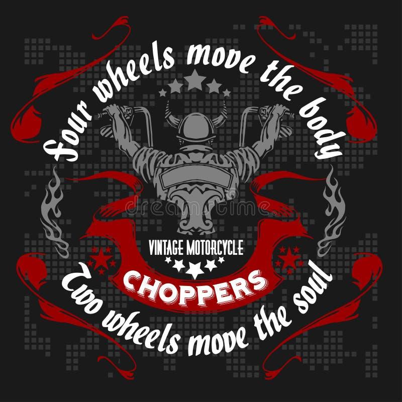 Retro motocykl etykietka, odznaka i projektów elementy, ilustracja wektor
