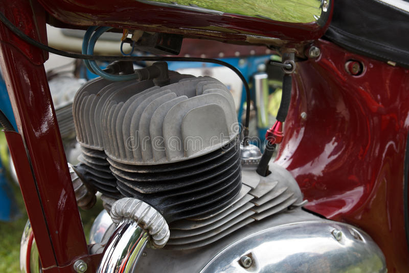 Retro motorcycle engine royalty free stock image