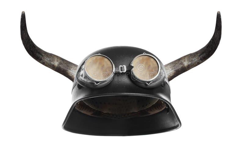 Download Retro motorcycle helmet. stock photo. Image of bike, head - 24156742