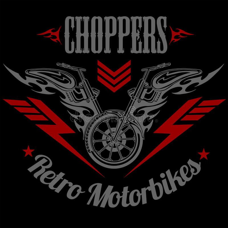 Free Retro Motorcycle Label, Badge And Design Elements Stock Photography - 58692132