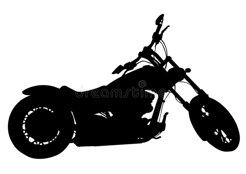 Retro motorcykel tre stock illustrationer