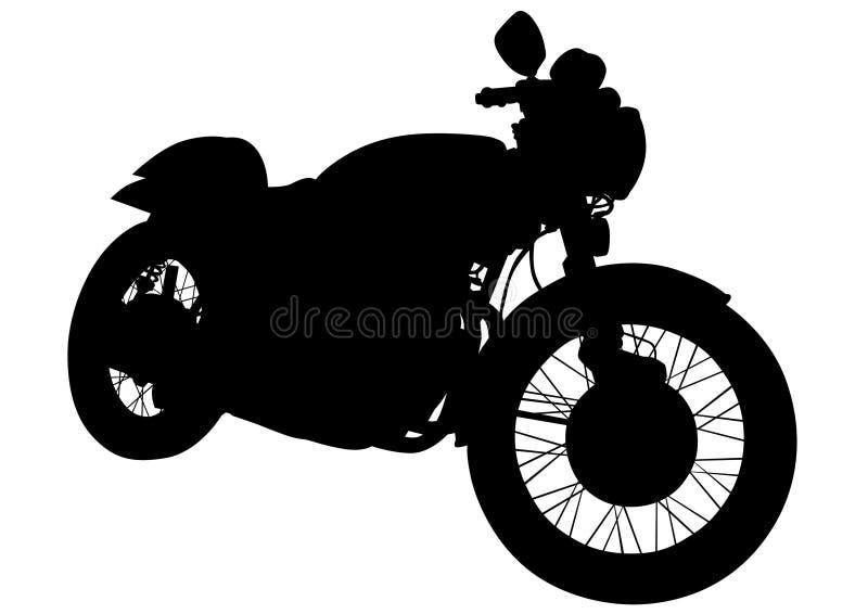 Retro motorfordon fem royaltyfri illustrationer