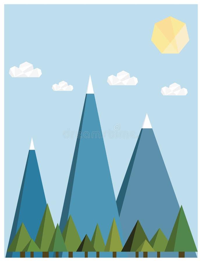 Download Retro Mountain stock vector. Illustration of corporate - 27808603