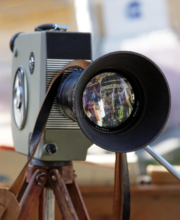 Retro movie camera royalty free stock image