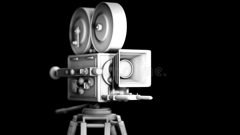 Retro movie camera stock photography