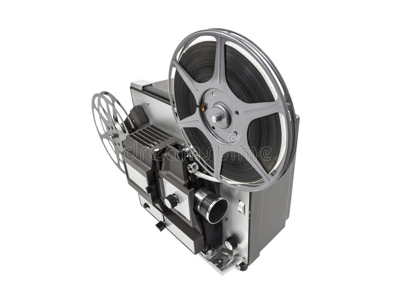Download Retro Movie Projector Isolated Stock Image - Image: 34298147