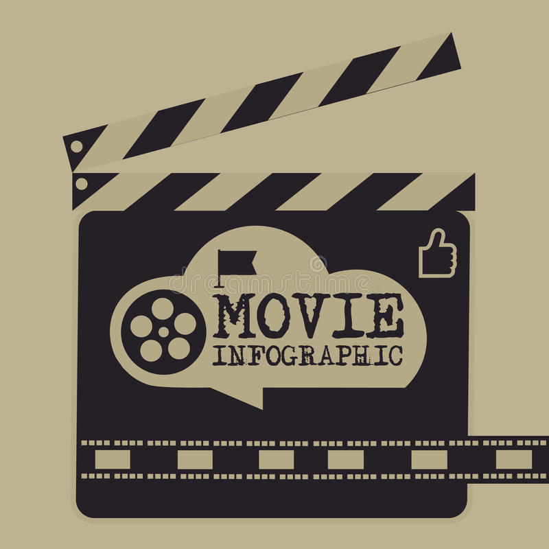 Retro movie template, media player, flat design, illustration, modern style, , concept, icons,digital, online, advertising. Frame, movie, silent, audio, black stock illustration