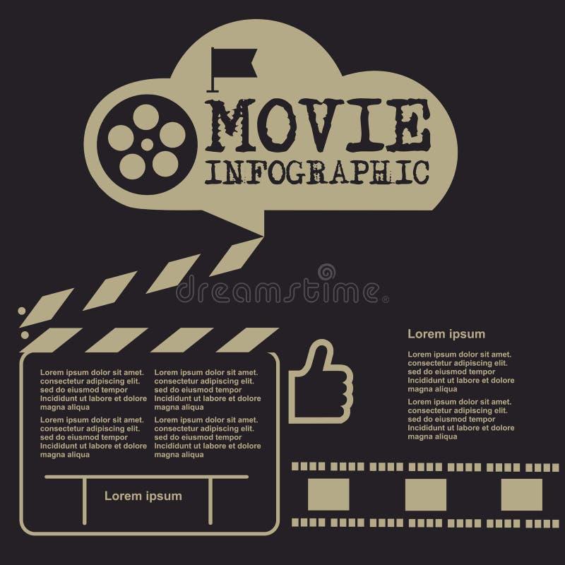 Retro movie template, media player, flat design, illustration, modern style, , concept, icons,digital, online, advertising stock illustration