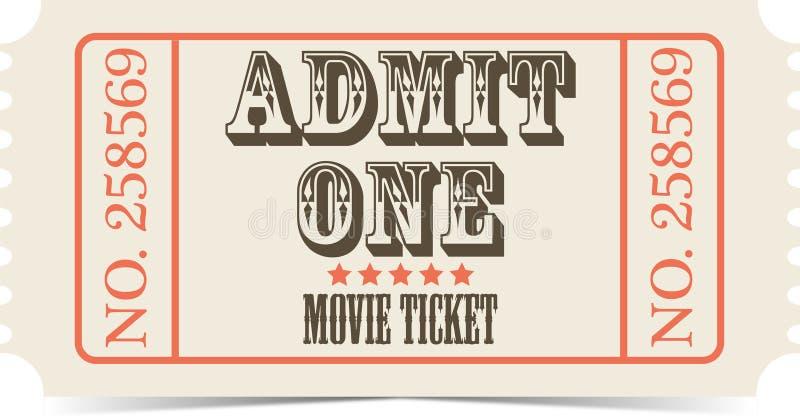 Retro movie vector ticket royalty free illustration