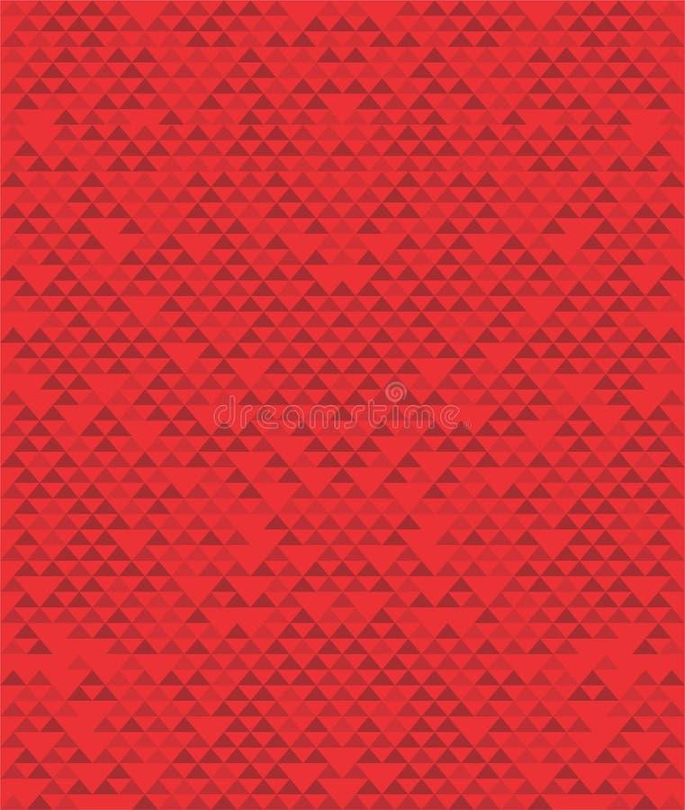 Retro mozaïekpatroon van geometrische driehoeksvormen stock illustratie
