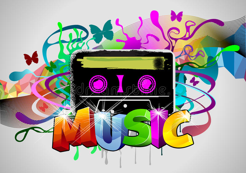 Download Retro music stock vector. Illustration of colored, paint - 14836096